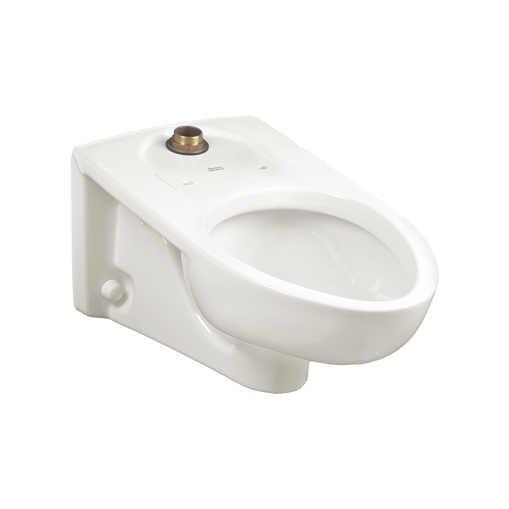 American Standard 2257101.020 Afwall® Millennium™ FloWise® Flushometer Toilet Bowl, Elongated, 10 x 12 in Water Surface, 2-1/8 in Trapway, Import