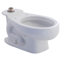 American Standard 2282001.020 Baby Devoro™ Flowise® Toilet Bowl, Round Front Bowl, 10-1/4 in H Rim, 1.28 gpf, White, Import