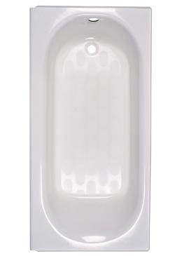 American Standard 2390202.020 Princeton™ Bathtub, Soaking, Rectangular, 60 in L x 30 in W, Left Hand Drain, Glossy White, Domestic