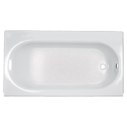 American Standard 2391202.020 Princeton™ Bathtub, Soaking, Rectangular, 60 in L x 30 in W, Right Hand Drain, Glossy White, Import