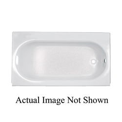 American Standard 2395.202.020 Princeton™ Recessed Bathtub With Luxury Ledge, Soaking, Rectangular, 60 in L x 34 in W, Right Hand Drain, White, Domestic