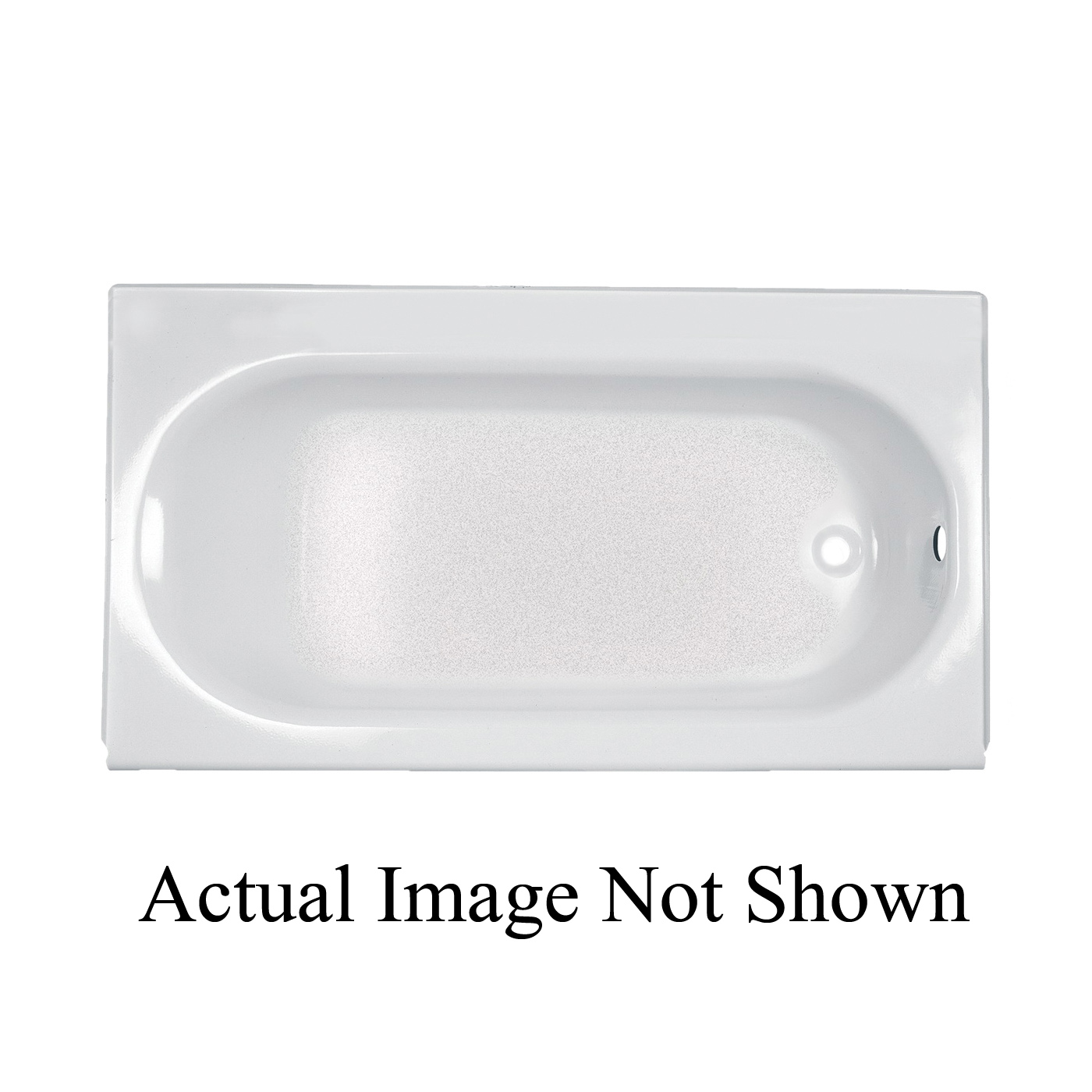 American Standard 2395.202.020 Princeton™ Recessed Bathtub With Luxury  Ledge, Rectangular, 60