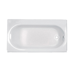 American Standard 2393.202.020 Princeton™ Recessed Bathtub with Integral Apron and Tiling Flange, Rectangular, 60 in L x 30 in W, Right Drain, White, Domestic