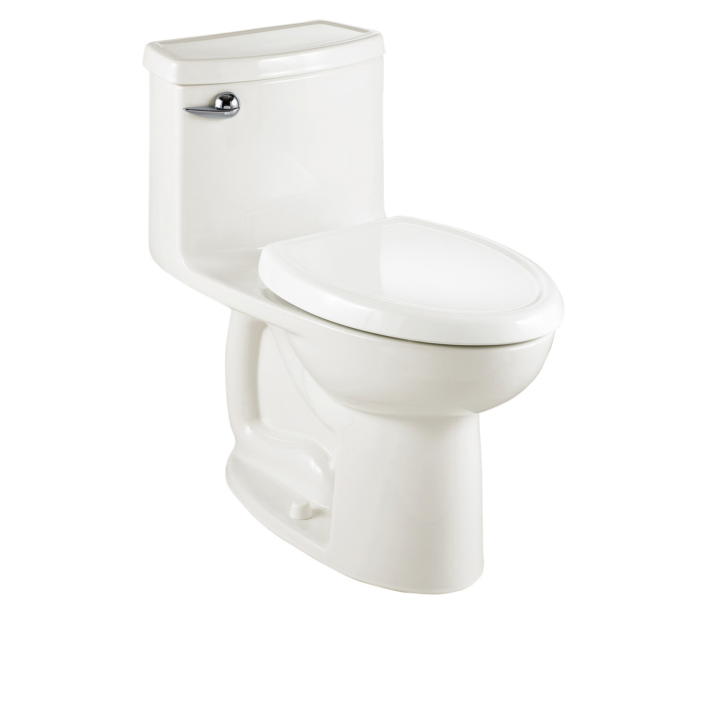American Standard 2403.128.020 Cadet® 3 Flowise® Right Height™ 1-Piece Toilet With (2) Bolt Caps, Elongated Bowl, 16-1/2 in H Rim, 1.28 gpf, White, Import