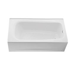 American Standard 2460.002.020 Cambridge™ Bathtub, Soaking, Rectangular, 60 in L x 32 in W, Left Hand Drain, White, Domestic