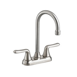 American Standard 2475500.075 Colony® Soft Bar Sink Faucet, 2.2 gpm, 4 in Center, Stainless Steel, 2 Handles, Import