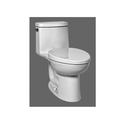 American Standard 2535128.020 Loft® 1-Piece Toilet, Right Height® Elongated Bowl, 1.28 gpf, White, Import