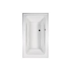 American Standard 2742068C.020 Town Square® Bathtub, Air Bath, Rectangular, 71-1/2 in L x 41-3/4 in W, Reversible Drain, White, Domestic