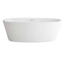 American Standard 2765034.020 Coastal™ Serin® Bathtub, Soaking Hydrotherapy, 68-3/4 in L x 31-1/4 in W, Center Drain, White, Import