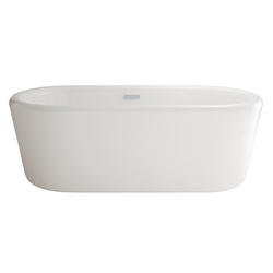 American Standard 2767034.020 Kipling Ovale™ Bathtub, Soaking Hydrotherapy, 69-5/8 in L x 31-3/4 in W, Center Drain, White, Import