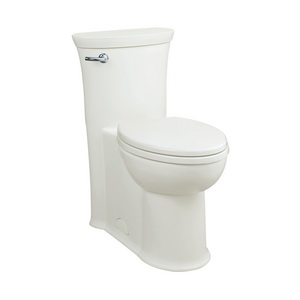 American Standard 2922A104.020 Townsend® VorMax™ Right Height™ 1-Piece High Efficiency Bathroom Toilet With Seat, Elongated Bowl, 16-1/2 in H Rim, 4.8 gpf, White, Import