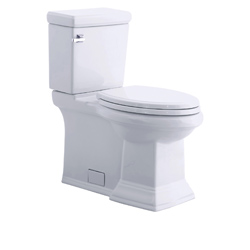 American Standard 2817.128.020 Town Square® Flowise® 2-Piece Toilet, Elongated Bowl, 16-1/2 in H Rim, 1.28 gpf, White, Import