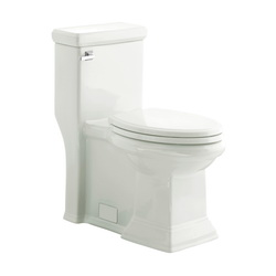 American Standard 2847128.020 Town Square® FloWise® Right Height™ 1-Piece Toilet With Toilet Seat, Elongated Bowl, 16-1/2 in H Rim, 1.28 gpf, White, Import