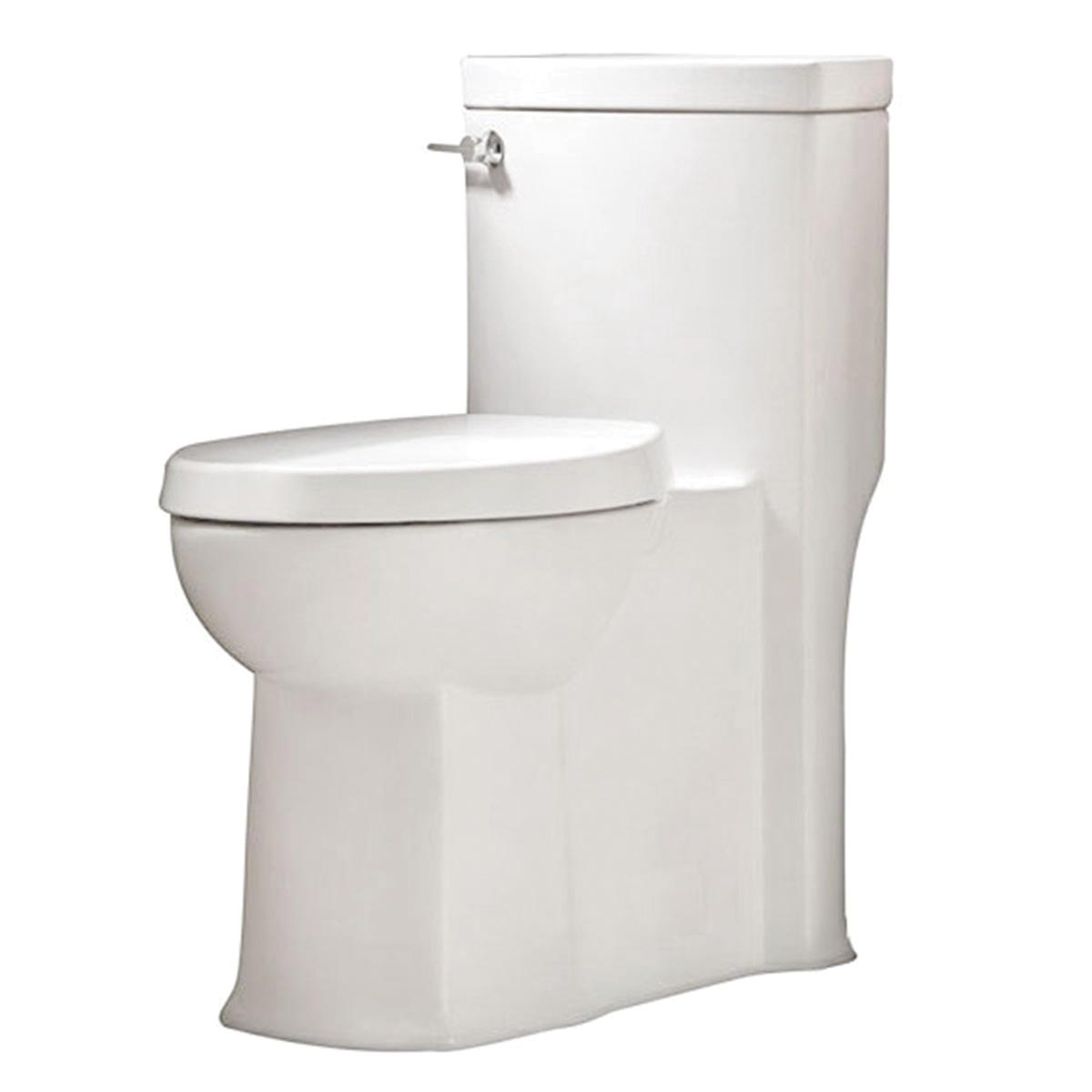 American Standard 2891128.020 Boulevard® FloWise® Right Height™ 1-Piece Toilet, Elongated Bowl, 18-1/2 in H Rim, 1.28 gpf, White, Import