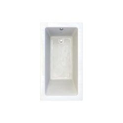 American Standard 2938002-D0.020 Studio® Bathtub, Soaking, Rectangular, 65-3/4 in L x 35-3/4 in W, Reversible Drain, White, Domestic