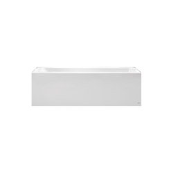 American Standard 2946102.011 Studio® Bathtub with Integral Apron, Soaking Hydrotherapy, Rectangular, 60 in L x 32 in W, Right Drain, Arctic™, Import