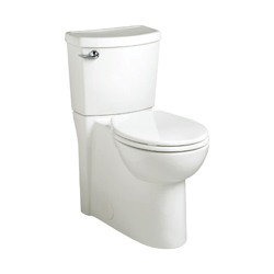 American Standard 2989.101.020 Cadet® 3 Flowise® Right Height™ 2-Piece Toilet, Round Front Bowl, 16-1/2 in H Rim, 1.28 gpf, White, Domestic