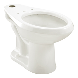American Standard 3043.001.020 Madera™ FloWise® Toilet Bowl, Elongated, 10 x 12 in Water Surface, 16-1/2 in H Rim, 2-1/8 in Trapway, Import