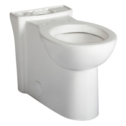 American Standard 3053.000.020 Cadet® 3 FloWise® Right Height™ Toilet Bowl, Round Front, 8 x 9 in Water Surface, 16-1/2 in H Rim, 2-1/8 in Trapway, Import