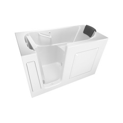 American Standard 3060.105.SLW Premium Bathtub Without Jet, Soaking, 60 in L x 30 in W, Left Drain, White, Import
