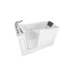 American Standard 3060.109.WLW Premium Bathtub Without Jet, Whirlpool, Rectangular, 60 in L x 30 in W, Left Drain, White, Import