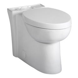 American Standard 3075.120.020 Studio™ Activate™ Right Height™ Toilet Bowl, Elongated, 8 x 9 in Water Surface, 16-1/2 in H Rim, 2-1/8 in Trapway, Import