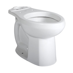 American Standard 3251A101.020 Colony® Right Height™ Toilet Bowl, Elongated, 8 x 9 in Water Surface, 16-1/2 in H Rim, 2 in Trapway, Import