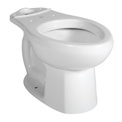 American Standard 3251C101.020 Colony® Toilet Bowl, Elongated, 8 x 9 in Water Surface, 2 in Trapway, Import