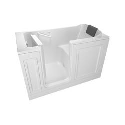 American Standard 3260.215.SLW Luxury Bathtub Without Jet, Soaking, 60 in L x 32 in W, Left Drain, White, Domestic