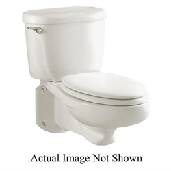 American Standard 3402016.020 Glenwall™ Toilet Bowl Only, Elongated, 10 x 12 in Water Surface, 2 in Trapway, Import