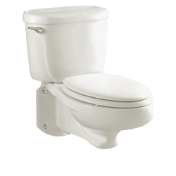 American Standard 2093100.020 Glenwall™ 2-Piece Pressure Assisted Toilet, Elongated, 14-1/2 in H Rim, 1.6 gpf, White, Domestic