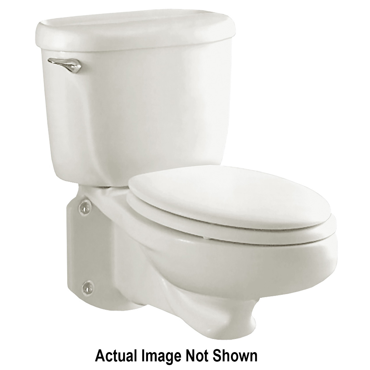 American Standard 3402.016.021 Glenwall™ Toilet Bowl, Elongated, 10 x 12 in, 14-1/2 to 16-1/2 in, 2 in
