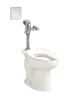 American Standard 3461.001.020 Madera™ FloWise® Toilet Bowl, Elongated, 10 x 12 in Water Surface, 16-1/2 in H Rim, 2-1/8 in Trapway, Import