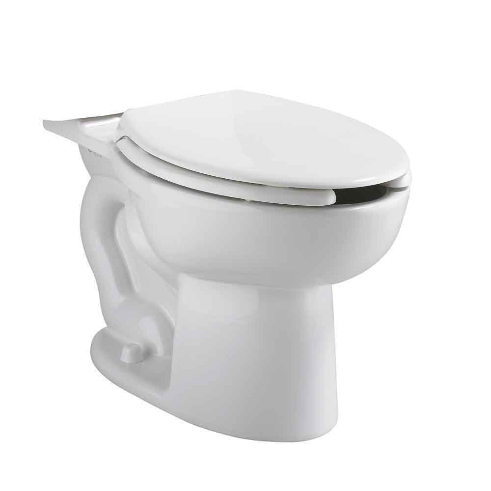 American Standard 3481001.020 Cadet® Universal Toilet Bowl, Elongated, 10 x 12 in Water Surface, 2-1/8 in Trapway, Import