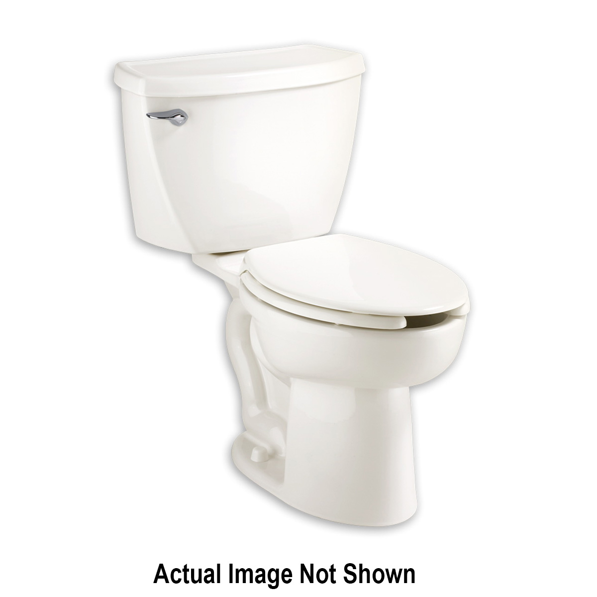 American Standard 3483.001.020 Cadet® FloWise® Right Height™ Toilet Bowl, Elongated, 10 x 12 in Water Surface, 16-1/2 in H Rim, 2-1/8 in Trapway, Import