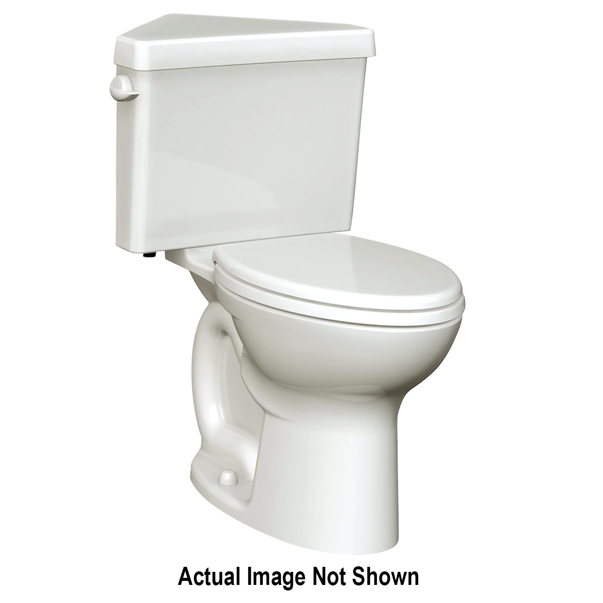American Standard 3517B101.020 Cadet® Pro™ Right Height™ Toilet Bowl, Round Front, 8 x 9 in Water Surface, 16-1/2 in H Rim, 2-1/8 in Trapway, Import