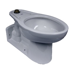 American Standard 3703001.020 Yorkville™ Right Height™ Toilet Bowl Only, Elongated, 10 x 12 in Water Surface, 16-1/2 in H Rim, 2-1/8 in Trapway, Import