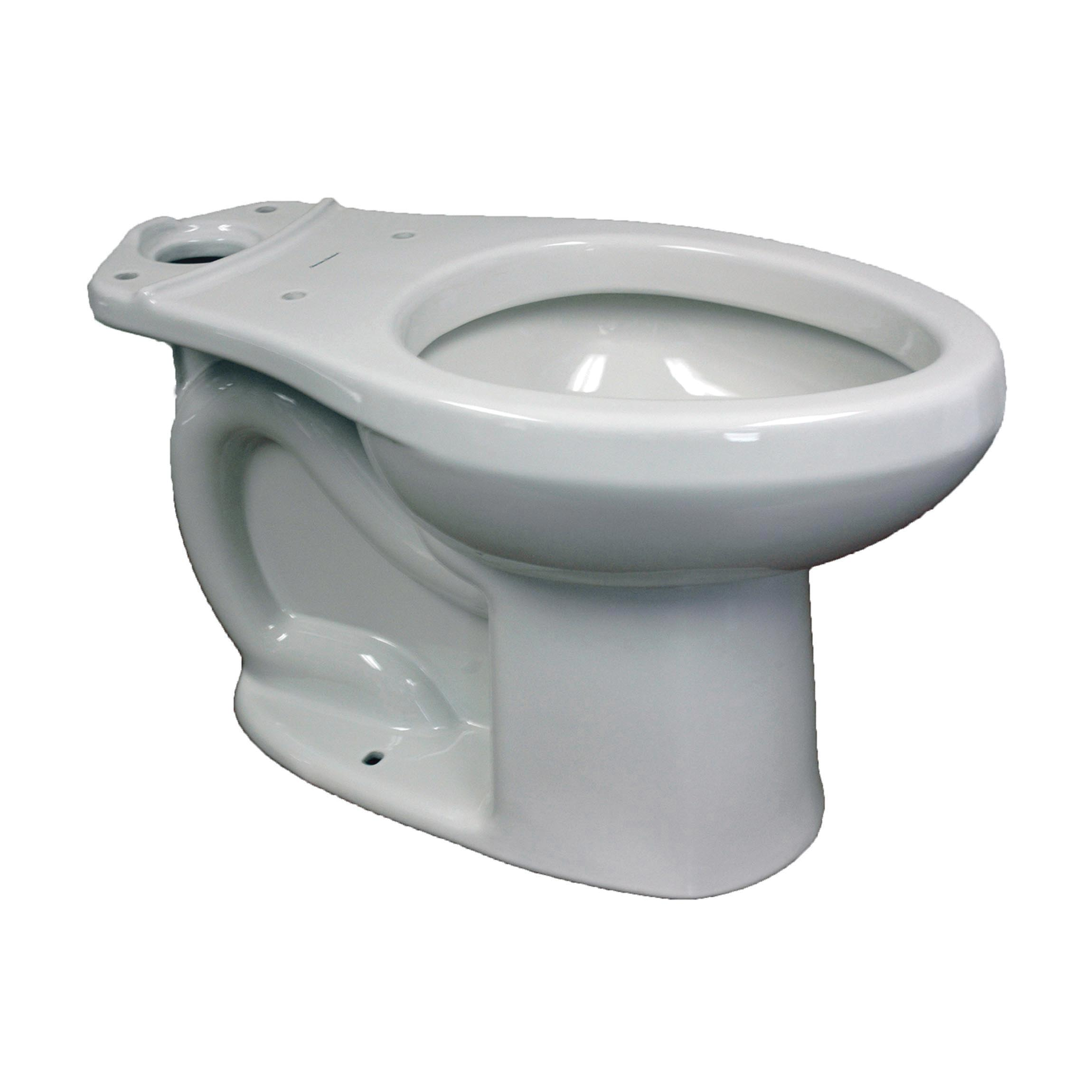American Standard 3705216.020 H2Optimum™ Siphonic Right Height™ Toilet Bowl Only, Elongated, 8 x 9 in Water Surface, 16-1/2 in H Rim, 2 in Trapway, Import