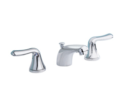 American Standard 3875.501.002 Colony® Soft Widespread Lavatory Faucet, 1.2 gpm, 2 in H Spout, 6 to 12 in Center, Polished Chrome, 2 Handles, Speed Connect® Pop-Up Drain, Import