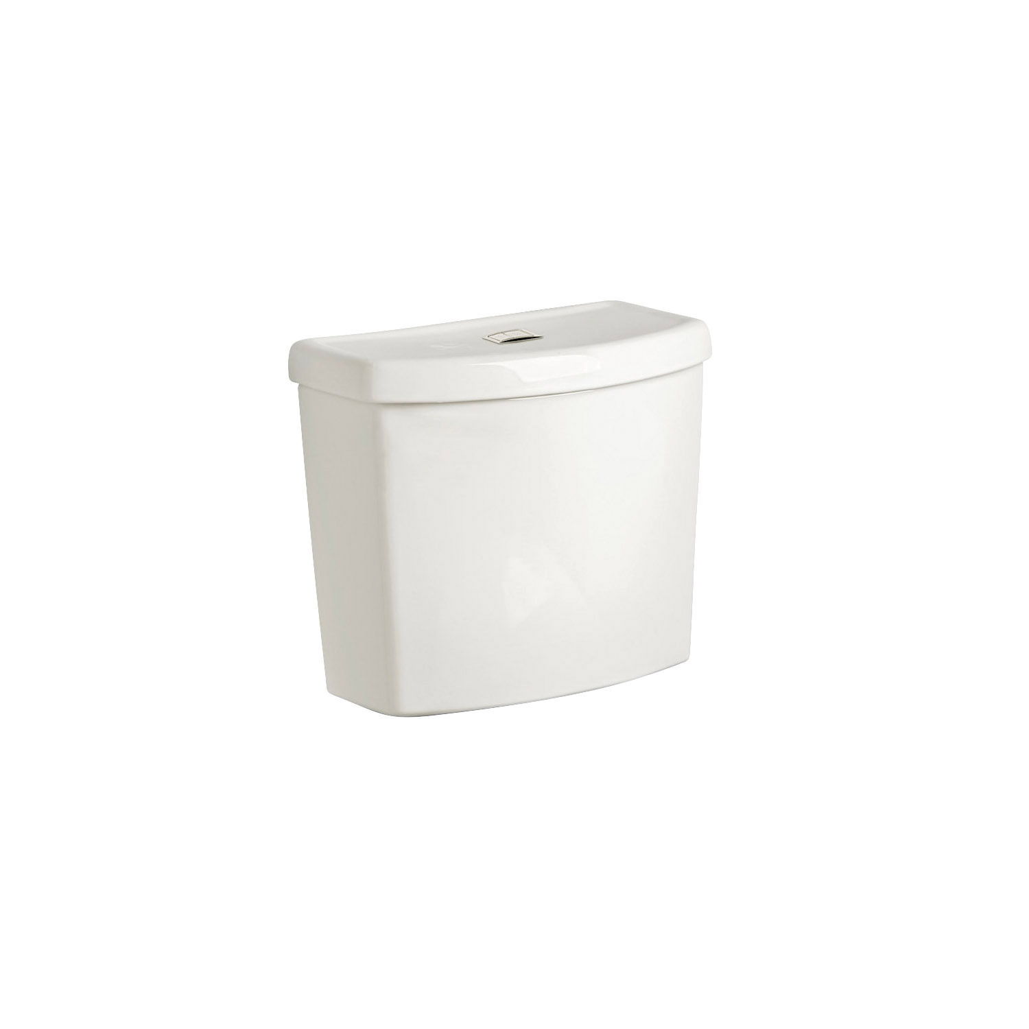 American Standard 4000204.020 Dual-Flush Complete Toilet Tank, Studio™ Right Height™, 1.1/1.6 gpf, 3 in Flush, White, Import