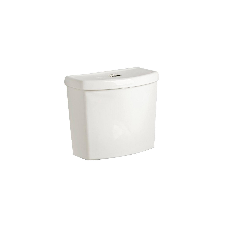 American Standard 4000204.020 Dual-Flush Complete Toilet Tank, Studio™ Right Height™, 1.1/1.6 gpf, 3 in Flush, White, Import