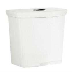 American Standard 4133A218.020 Dual-Flush Toilet Tank, H2Option®, 0.92/1.28 gpf, Top Pushbutton Flush Handle, 2 in Flush, White, Import