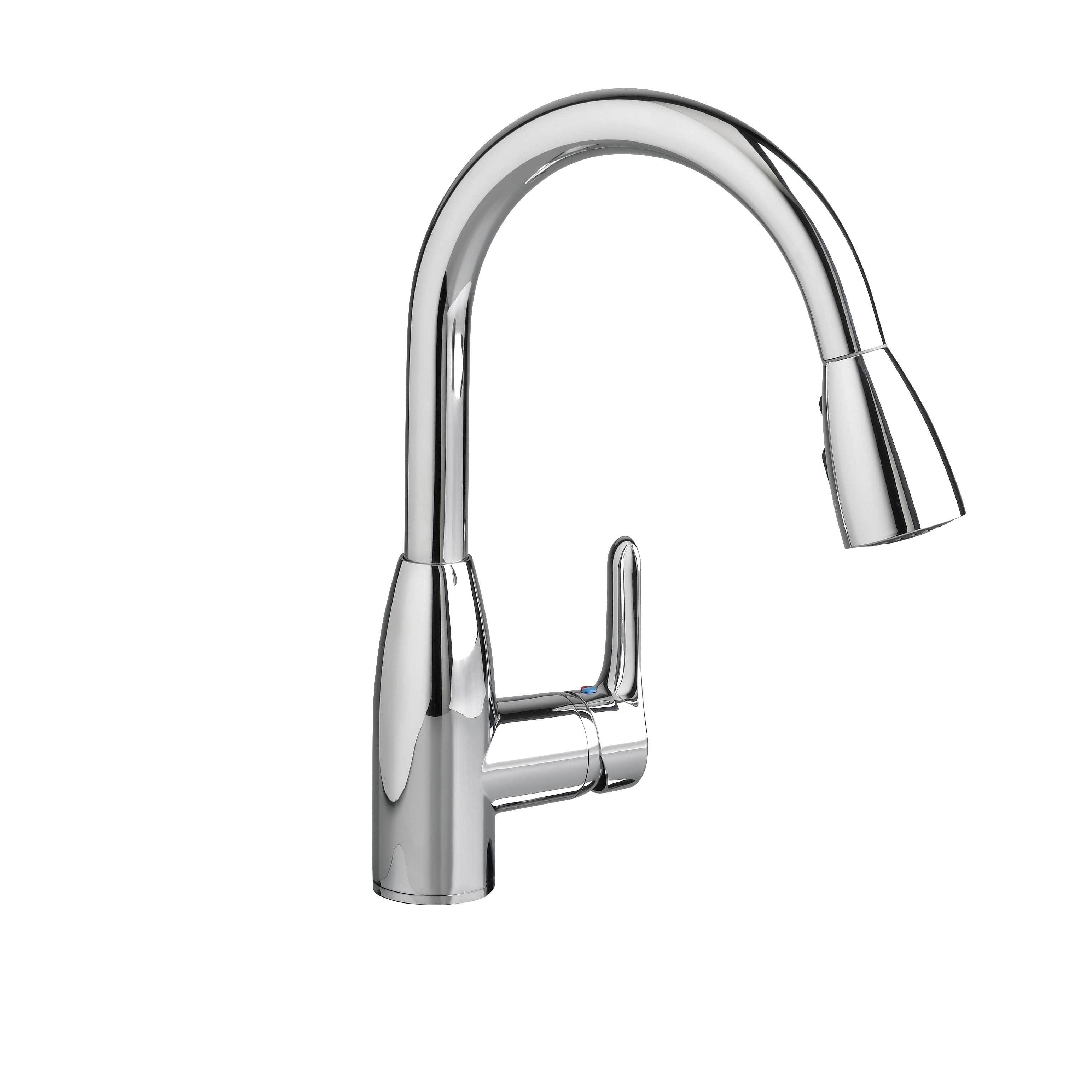 American Standard 4175.300.002 Colony® Soft Single Control Kitchen Faucet With Pull-Down Spray, 2.2 gpm, 1 Faucet Hole, Polished Chrome, 1 Handle, Import