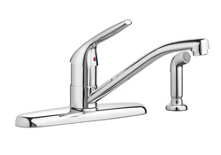 American Standard 4175701.002 Colony® Choice Kitchen Faucet, 2.2 gpm, 8 in Center, 1 Handle, Polished Chrome, Import