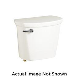 American Standard 4188A105.020 Toilet Tank With Trip Lever, Cadet® Pro™, 1.28 gpf, 3 in Flush, White, Import