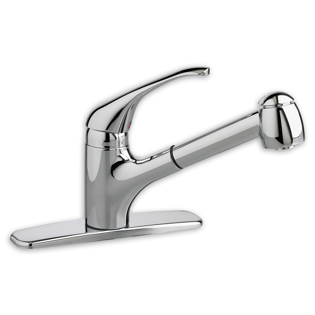 American Standard 4205.104.002 Reliant+® Single Control Kitchen Faucet With Pull-Out Spray, 2.2 gpm, 1 Faucet Hole, Polished Chrome, 1 Handle, Import