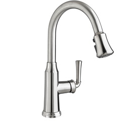 American Standard 4285300.075 Portsmouth® Single Control Kitchen Faucet With Pull Down Spray, 1.5 gpm, 1 Faucet Hole, 1 Handle, Stainless Steel, Import