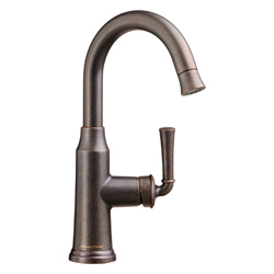 American Standard 4285410.224 Portsmouth® High-Arc Single Control Bar Sink Faucet With Pull-Down Spray, 2.2 gpm