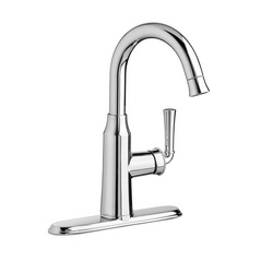 American Standard 4285410F15.002 Portsmouth® Single Control Bar Faucet With Pull Down Spray, 1.5 gpm, 4 in Center