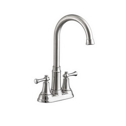 American Standard 4285420F15.075 Portsmouth® Bar Sink Faucet, 1.5 gpm, 4 in Center, Stainless Steel, 2 Handles